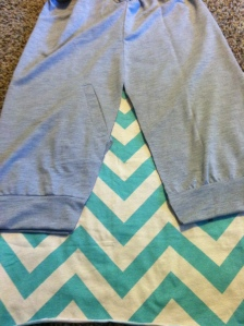 6 laying out chevron under shirt